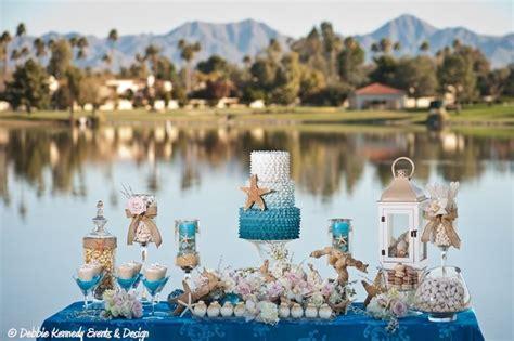 beach themed table ls beach themed wedding dessert buffet designed by debbie