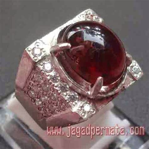 Garnet Ring Perak batu permata garnet cincin perak jual batu permata hobi