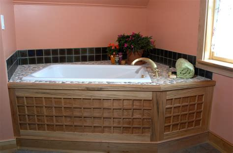 restroom tub handmade soaking tub surround by homecoming woodworks custommade