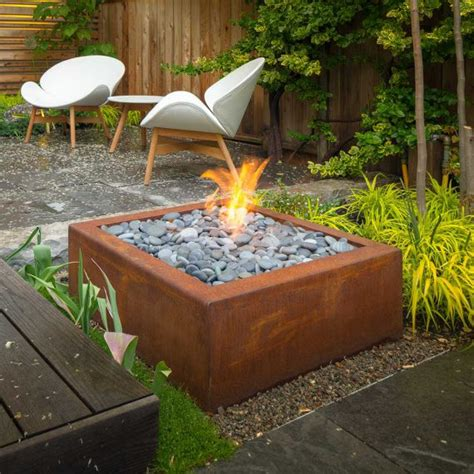 modern outdoor firepit pits modern contemporary outdoor gas and propane