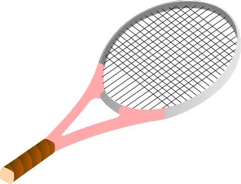 Tennis Raquet Clipart tennis racket pink clip at clker vector clip