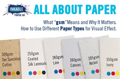 Type Papers by All About Paper Paper Weights And Different Paper Types
