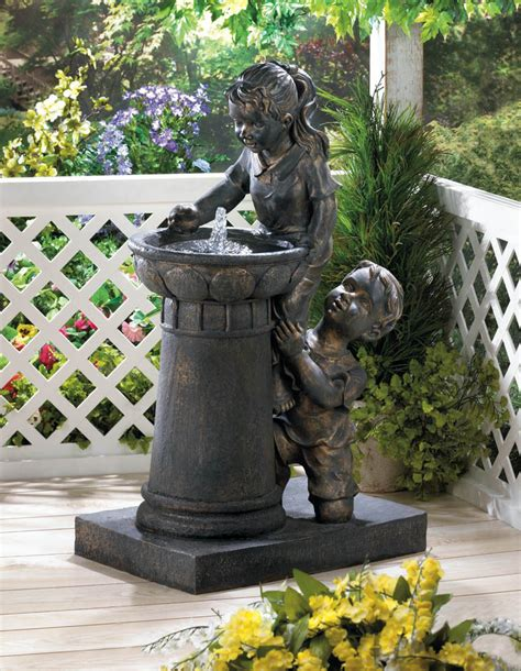 Outdoor Decor Garden Fountains Playtime Park Water Garden Yard Decor New 10016929 Ebay