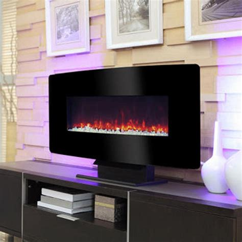 pleasant hearth electric wall mount fireplace mch35bl