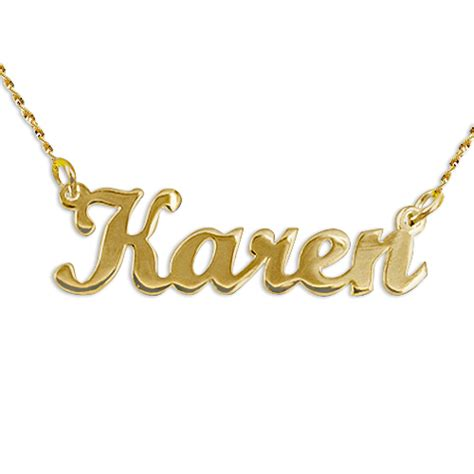14k yellow gold script style name necklace mynamenecklace
