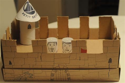 How To Make A Shoe Box Out Of Paper - diy shoe box castle craft collective