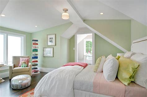 Benjamin Moore Electric Blue green paint colors transitional girl s room benjamin