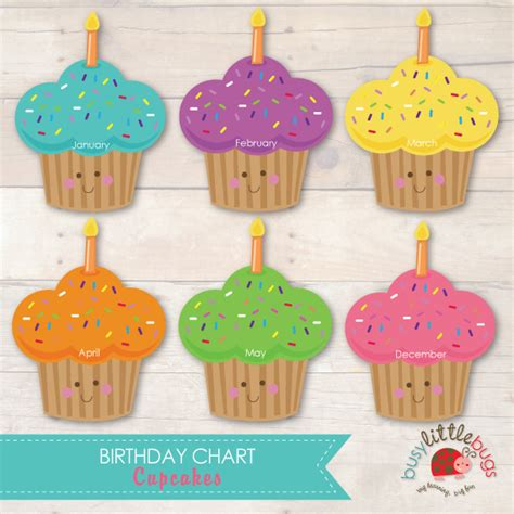 birthday chart template for classroom 7 best images of cupcake birthday printables for classroom