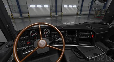 scania steering wheel brown vabis steering wheel for r rjl ets 2 mods