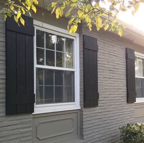 painting exterior wood windows diy outdoor shutters mindfully gray