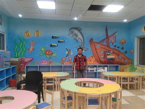 Interior Design Of Play School by About Play School Wall Painting Indore