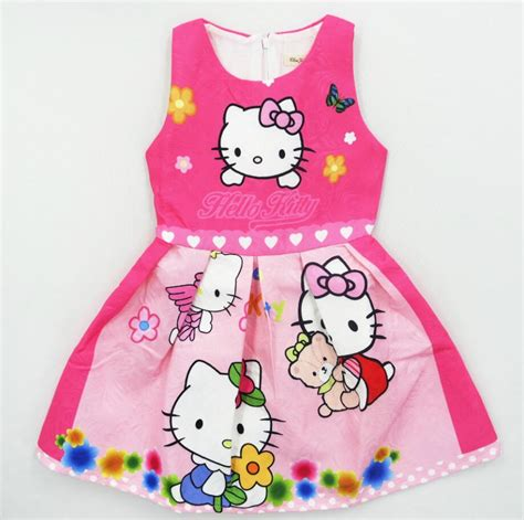 game design your hello kitty dress 2017 summer hello kitty dresses for girls princess