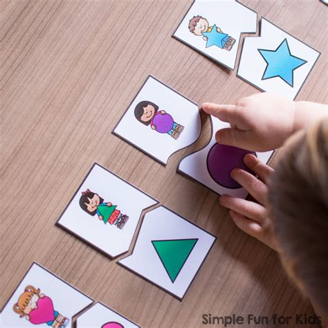 printable matching puzzle games shape matching puzzles for toddlers simple fun for kids