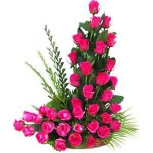 Sympathy Gift Baskets Designer Ikebana Roses Arrangement Send Flowers To Dubai From Canada
