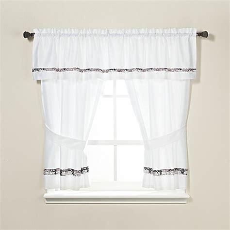 64 Inch Curtains Croscill 174 Deco Tile 64 Inch Bath Window Curtain Panel Bed Bath Beyond