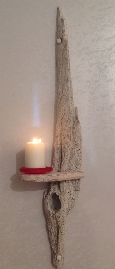 Driftwood Candle Sconces driftwood sconce candle holder crafts sculpture