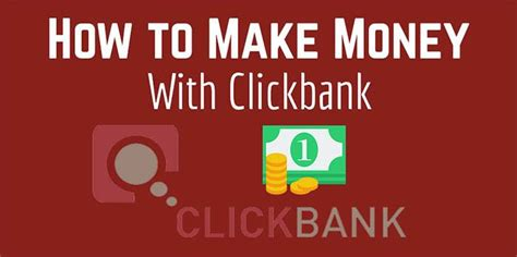 How To Make Money Online With Clickbank - how to make money promoting clickbank products