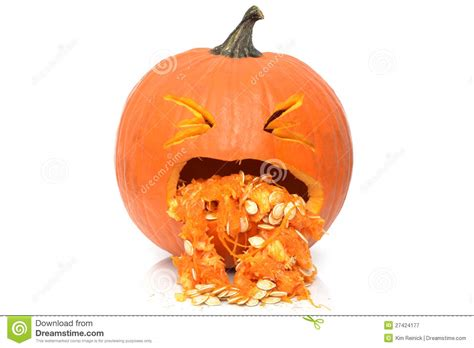 pumpkin sick sick pumpkin royalty free stock photography image 27424177