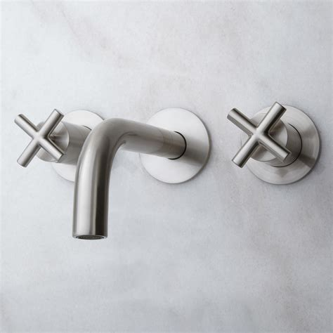 wall bathroom faucet exira wall mount bathroom faucet with cross handles ebay