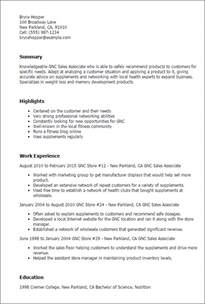 Associate Relationship Manager Sle Resume by Professional Gnc Sales Associate Templates To Showcase Your Talent Myperfectresume