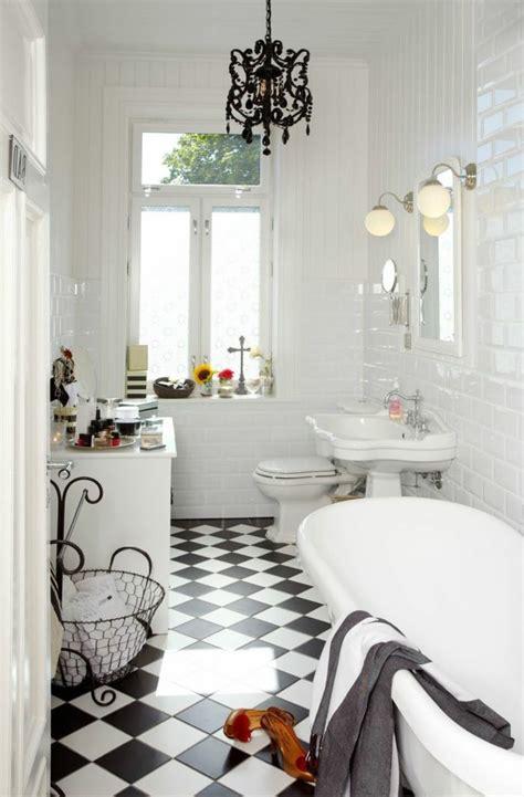 Exceptionnel Carrelage Damier Noir Et Blanc Salle De Bain #3: 371dcccc5a3d357b59c1feb312413c1a--style-retro-retro-chic.jpg