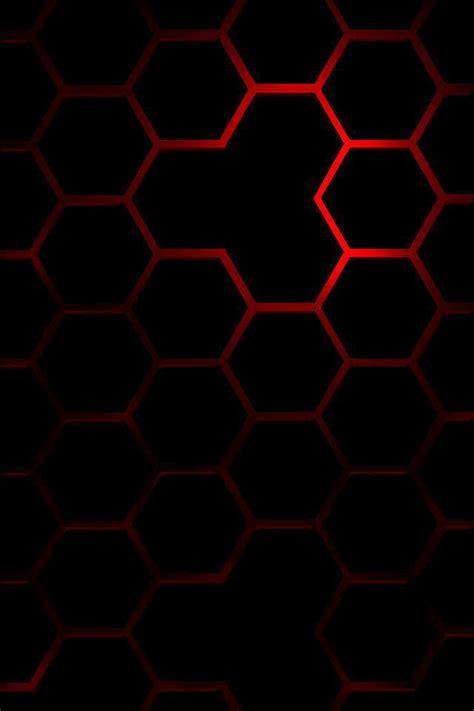 wallpaper iphone 6 volcom ハニカム模様 ブラック レッド iphone壁紙ギャラリー