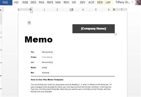interoffice memo template for word powerpoint presentation
