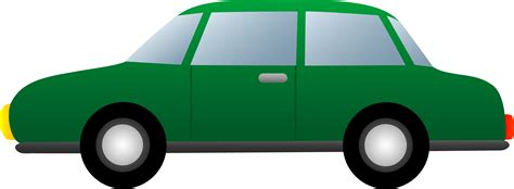 cartoon car png simple green car free clip art