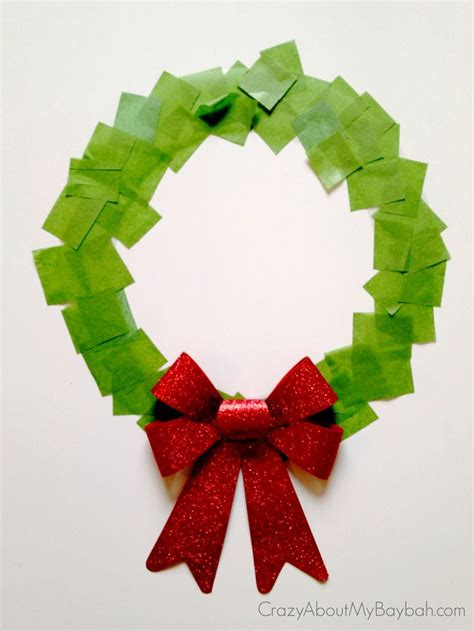 25 winter and christmas crafts for kids christmas wreath
