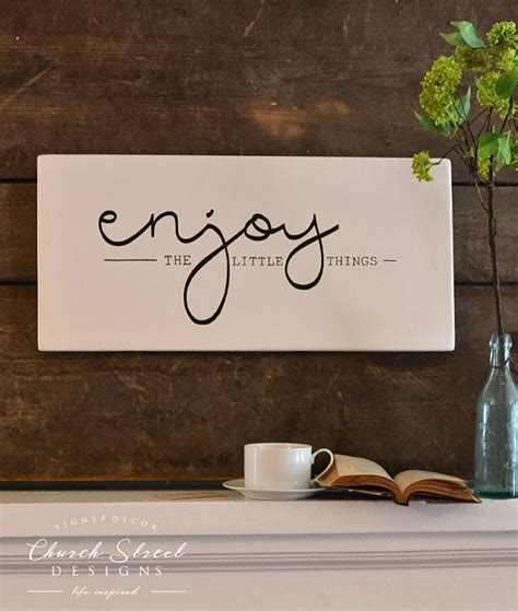 Signs And Plaques Home Decor by Kitchen Decor Enjoy The Little Things Modern Home Decor
