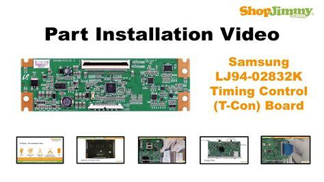 lcd tv repair samsung lj94 02832k timing t con boards replacement guide