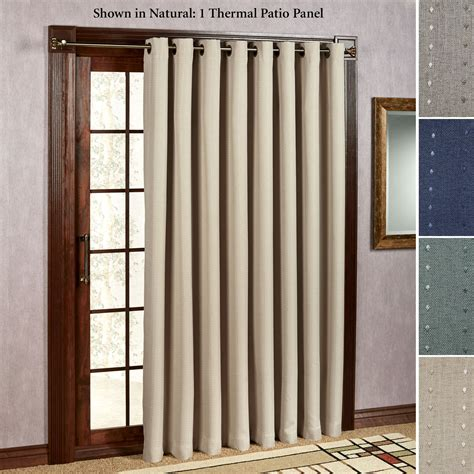 glass door curtain panels grand pointe room darkening thermal grommet patio panel
