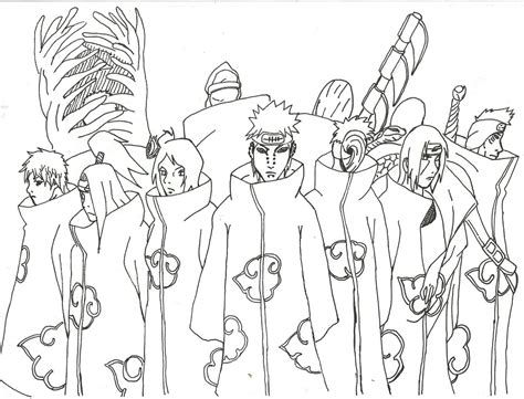 akatsuki coloring pages coloring pages