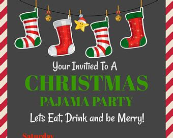 free christmas pj invitation pajama invitations pajama