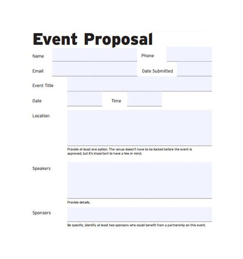 event templates for word event proposal template cyberuse