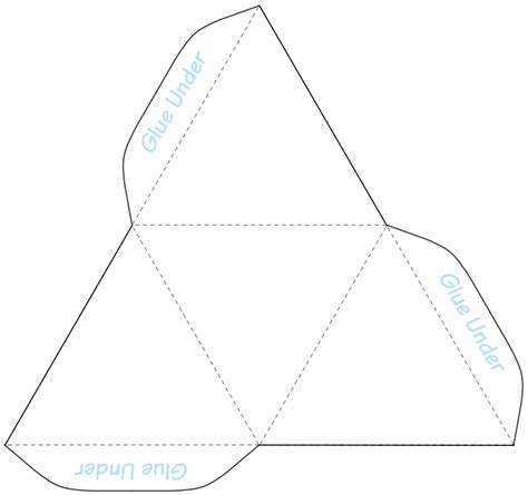 tetrahedron model template