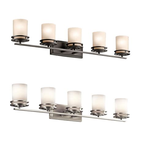bathroom fixture light kichler 5085 hendrik 7 75 quot tall 5 light bathroom lighting
