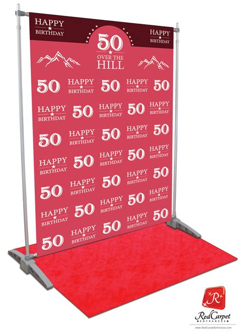 backdrop design for 50th birthday over the hill 50th birthday backdrop red carpet kit pink