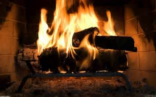 The fire in the fireplace wallpaper 6684 open walls