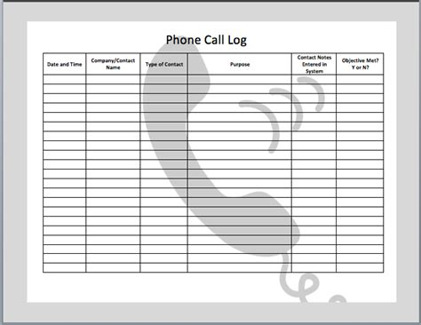 Phone Call Log Template Excel Planning In 2018 Pinterest Template Logs And Phone Phone Conversation Notes Template