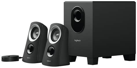 logitech z313 logitech 2 1 speaker system black at