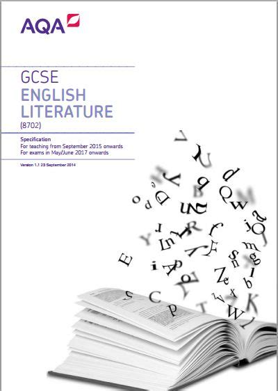 aqa english literature gcse 8702 specification exam june 2017 onwards http filestore aqa