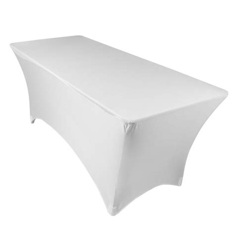 8 ft rectangle spandex stretch table cover fitted