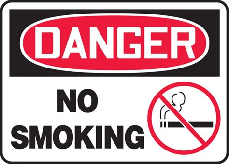 no smoking sign osha no smoking osha danger safety sign msmk016
