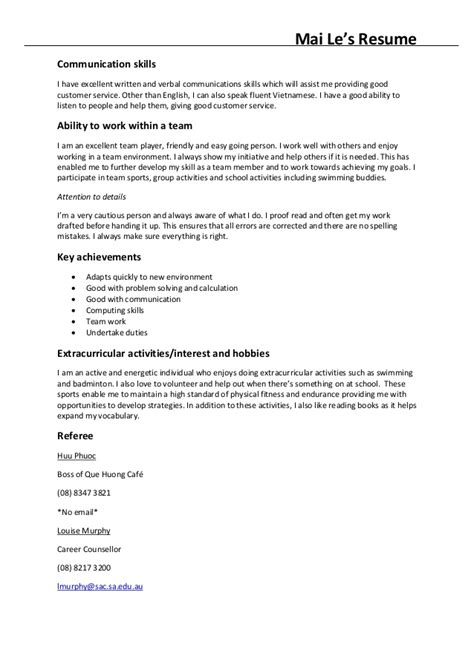 resume communication skills project scope template