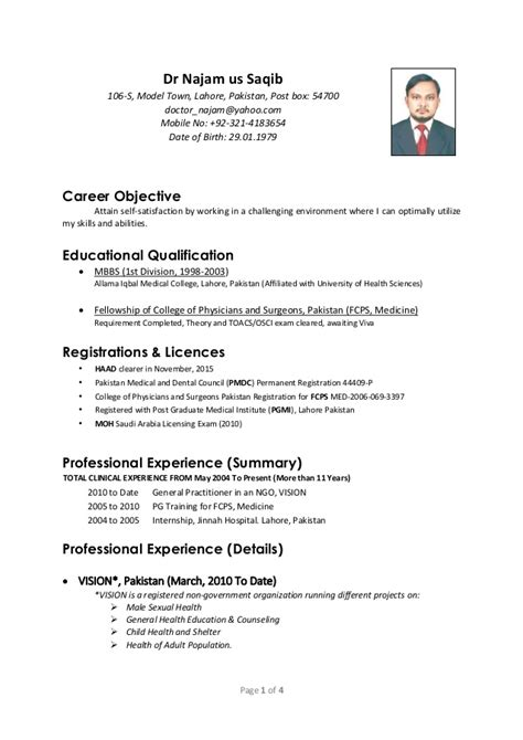 resume format for in pakistan free att 1400881954189 saqib cv