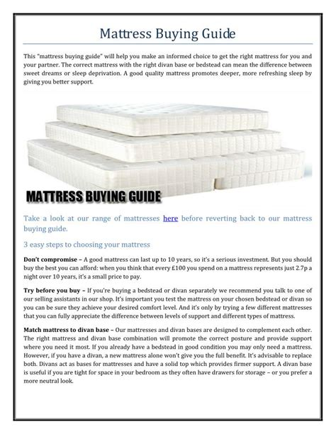 Mattress Buying Guide Consumer Reports by Mattress Buying Guide 28 Images Infographics 10 Useful Tips To Keep In Mind When Mattress