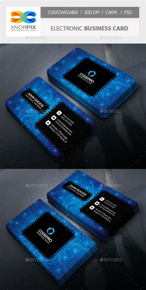 Elctronic Business Card Template by 1000 Ideas About Business Logos On Business