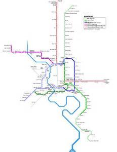 Bangkok thailand airport map detail bangkok bts skytrain route map