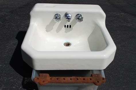 vintage cast iron porcelain sink 1959 vintage standard porcelain cast iron